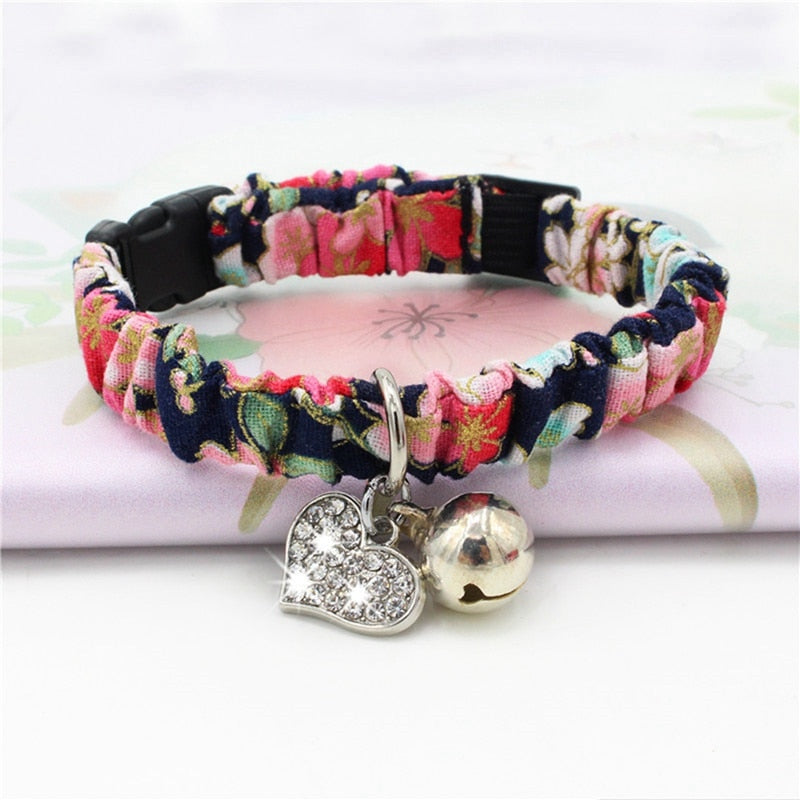 Adjustable Handmade Collars with Bell for Cats