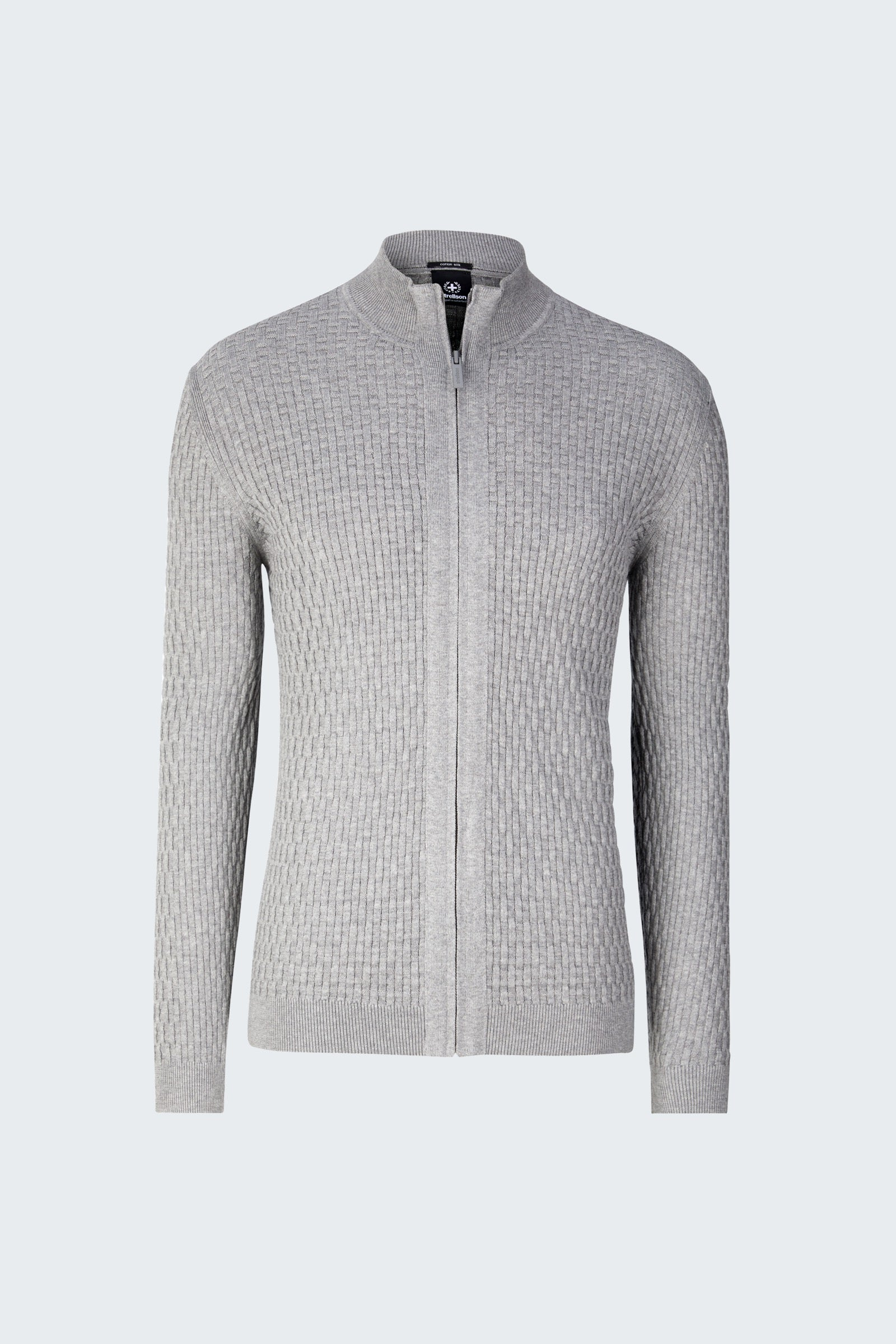 Strellson zip sweater light grey