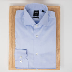Serica elite non-iron contemporary fit sky blue dress shirt