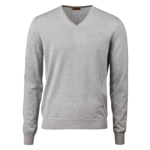 Stenstroms Light Grey Vneck Sweater
