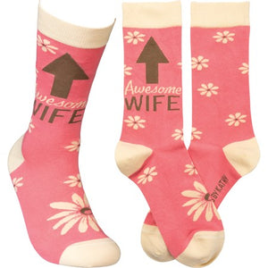 Awesome Wife LOL Socks (5678399684768)