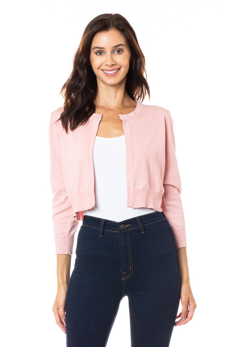 Better With You Dusty Pink Cropped Cardi (5501396189344)