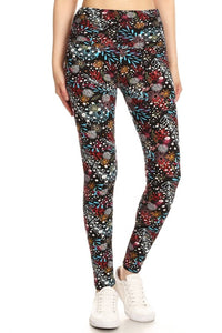 Flirt With Me Floral Print Leggings (5423907405984)