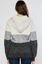 Load image into Gallery viewer, Meant To Be Oatmeal Striped Hoodie (5501391536288)