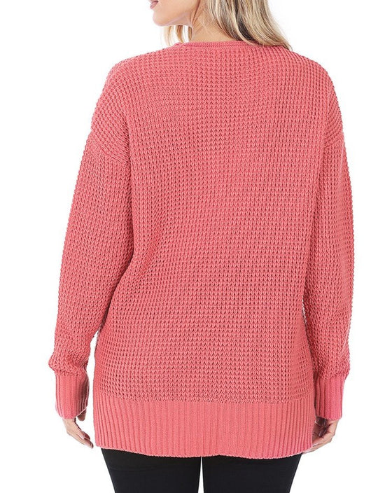 Cozy Cottage Cardigan in Bright Pink (6013300244640)