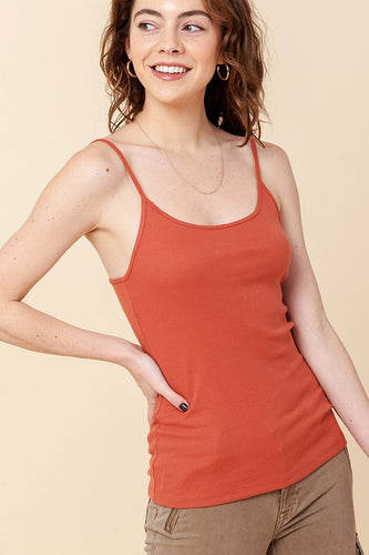 Terra Cotta Sweet and Simple Tank Tops (5411620126880)