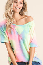 Load image into Gallery viewer, Feeling Upbeat Pastel Tie Dye T-Shirt (5351550484640)