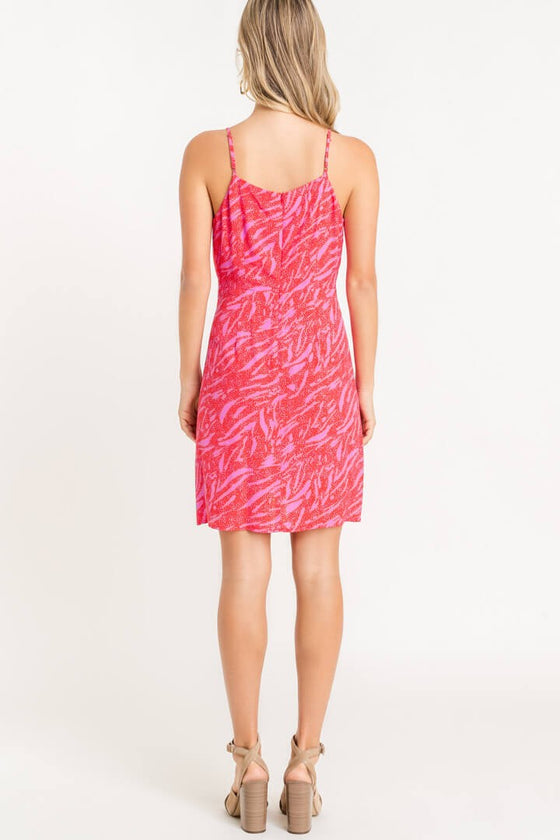 Pretty in Pink Assymetrical Mini Dress (5305274433696)