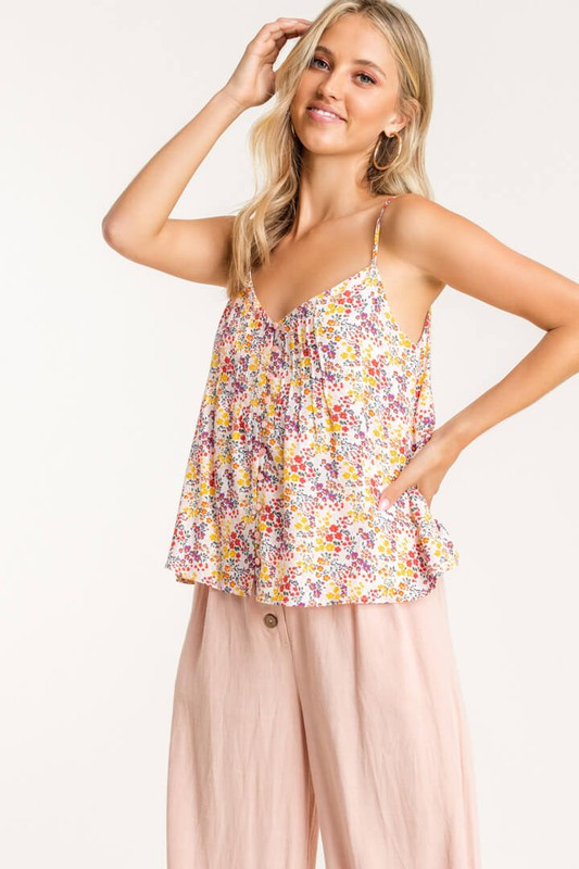 Cute As a Button Cream & Purple Top (5423291662496)