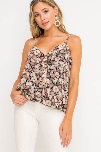 Call Me Maybe Black & Blush Top (5305274499232)