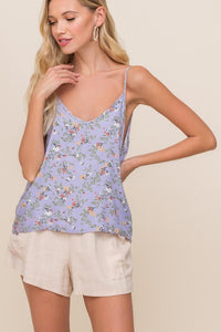 Lovely in Lavender Floral Tank