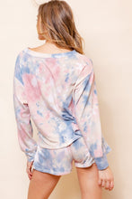 Load image into Gallery viewer, Twist of Fate Pink & Blue Tie-Dye Top (5549861961888)