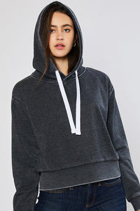 That's What I Like Cropped Charcoal Hoodie (5501391601824)