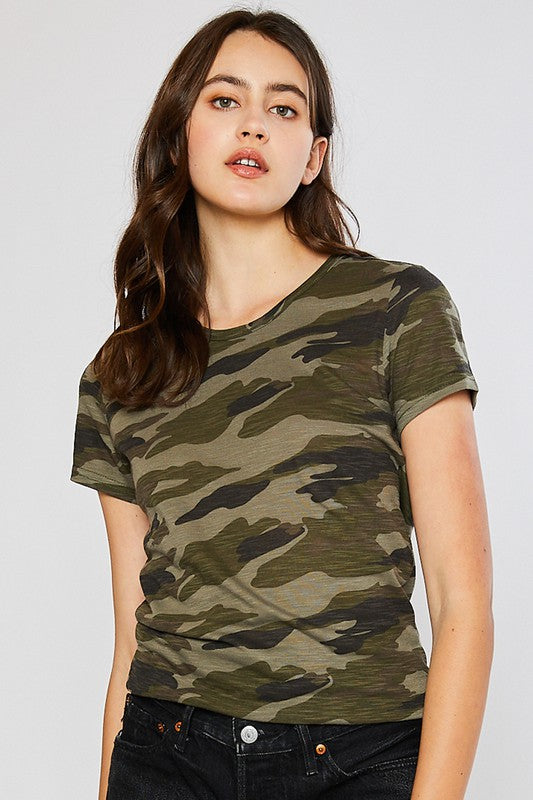 Look At Me Now Green Camo Tee