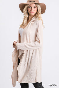 No Place Like You Oatmeal Waffle Knit Cardigan (5508938694816)