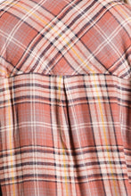 Load image into Gallery viewer, Words of Love Chestnut Plaid Button Up (5411734519968)