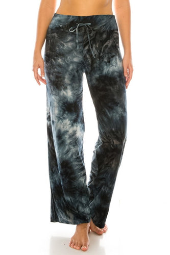 Tongue Tied Black Tie-Dye Pajama Pants (5423907242144)