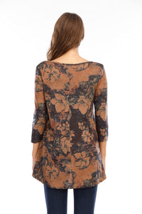 Mocha Madness Floral Knit Top (5529335857312)