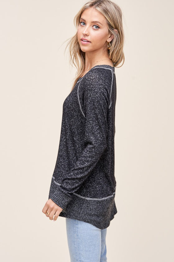This Magic Moment Black Cozy Top (5501398974624)