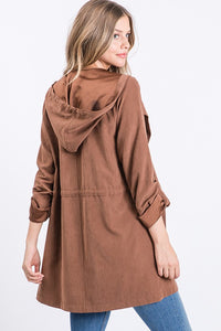 All You Need Is Love Chestnut Suede Jacket (5501395566752)