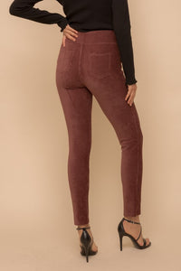 Fasionably Forward Brown Corduroy Leggings (5558112288928)