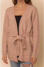Load image into Gallery viewer, Belt It Out Mauve Cardigan (5649922621600)
