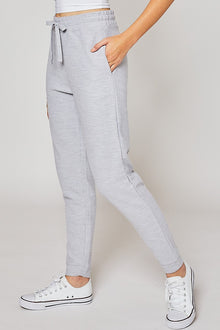 Strikes a Chord Joggers in Light Heather Grey (6011128086688)