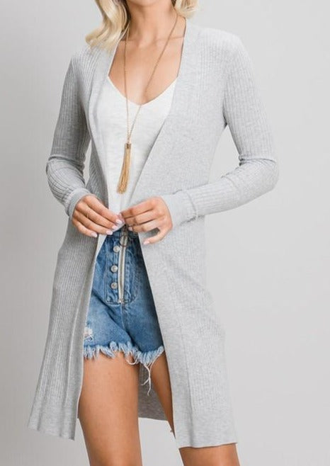 Your Favorite Heather Grey Cardigan (5990732529824)
