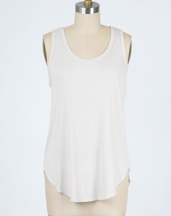 The Perfect Ribbed Tank in White (6589694541984)