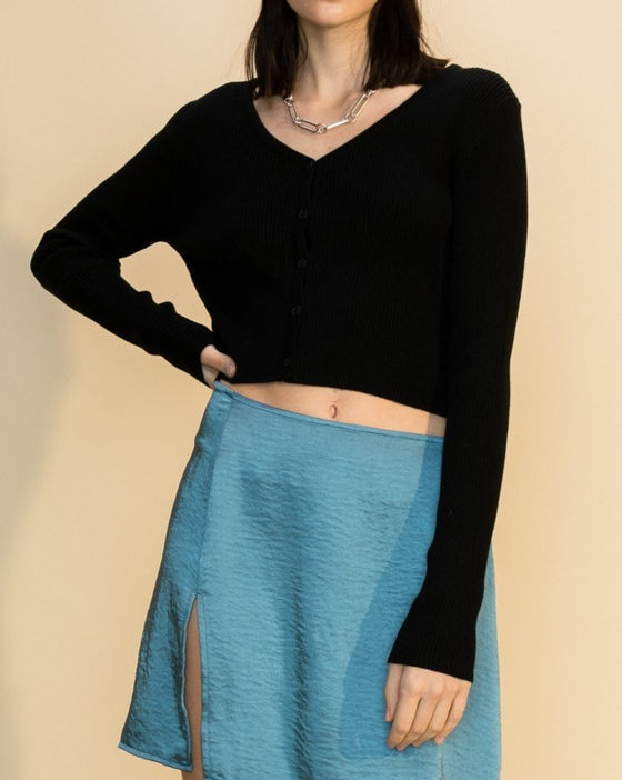 The Party Cardi in Black (6593698693280)