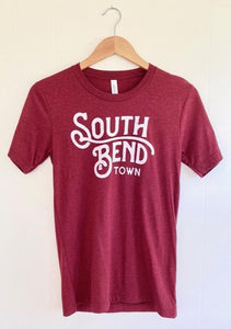 South Bend Town Burgundy Custom Unisex Tee (5722065469600)