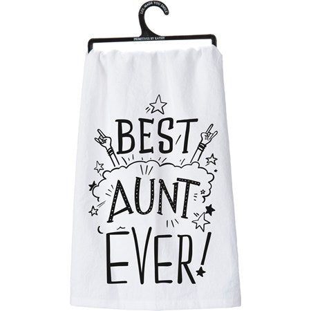 Best Aunt Ever Dish Towel (5470007197856)