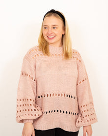 Afterglow Blush Balloon Sleeve Sweater (6011128250528)