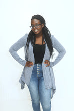 Load image into Gallery viewer, Fallen For You Navy Assymetrical Cardigan (5649922392224)