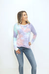 A Little Bit Yours Mint-Multi Tie Dye Top (5423908159648)