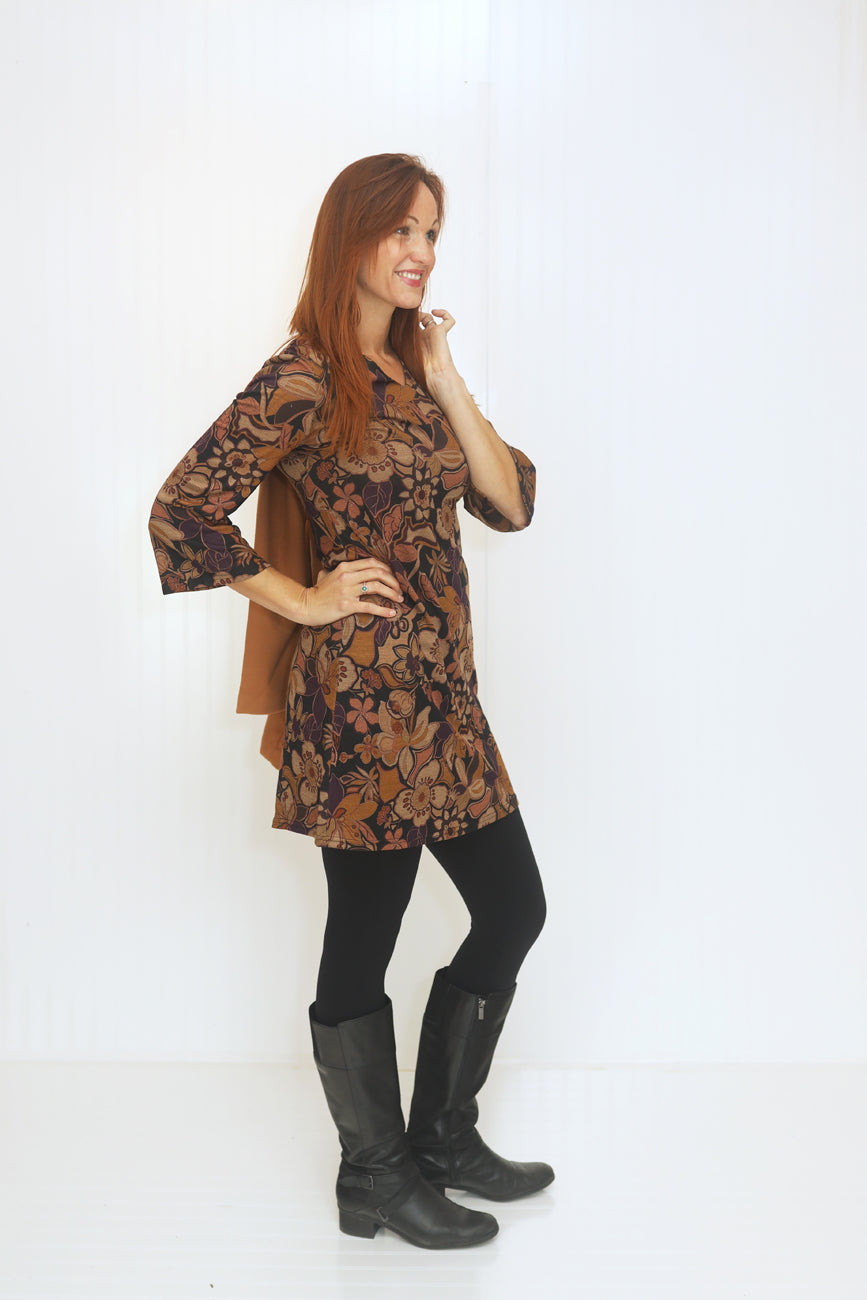 Autumn Embers Floral Dress (5682350194848)