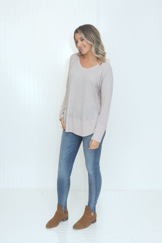 What A Mauve-alous Long Sleeve Top (5649922818208)