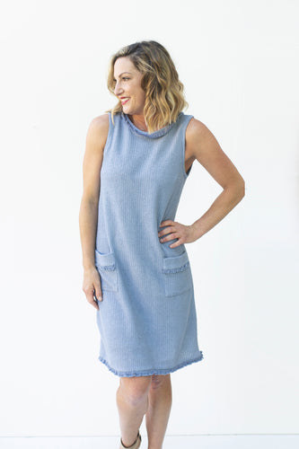 This Is All I Ask Denim Blue Dress (5240316395680)