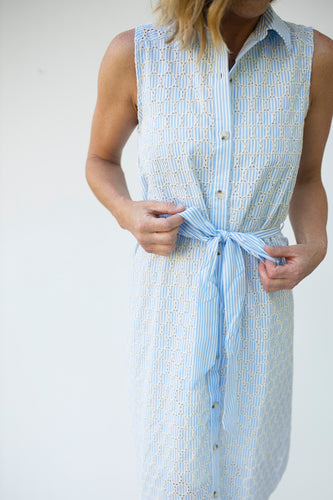 Unforgettably Sweet Light Blue Striped Dress (5240316493984)