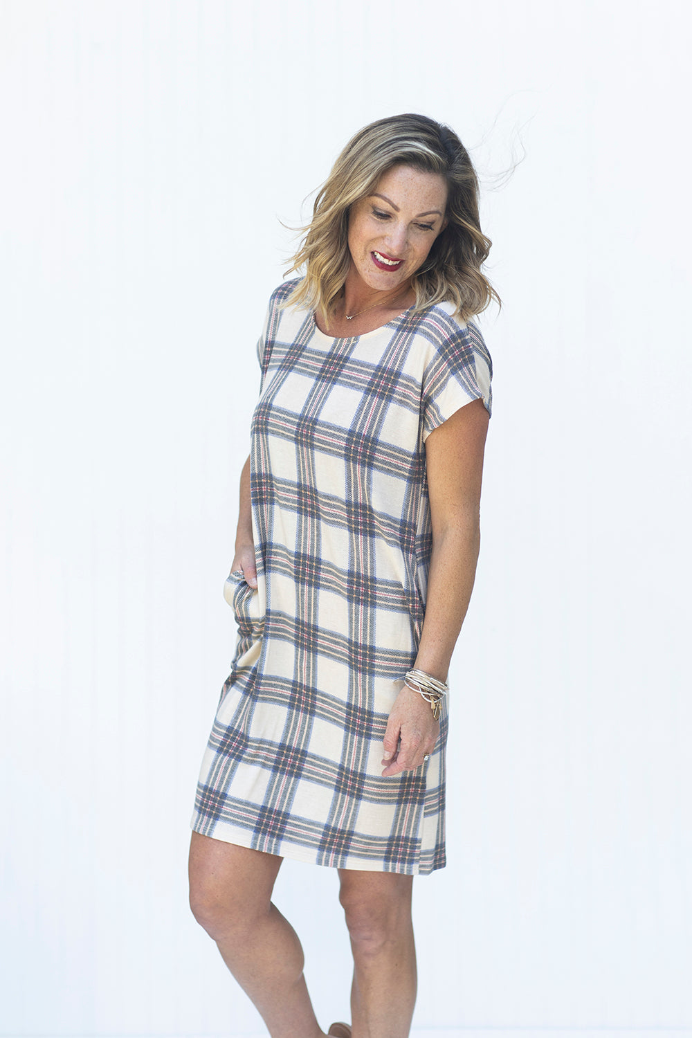 On Your Side Plaid Dress (5439312363680)