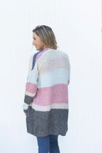Load image into Gallery viewer, Can't Buy Me Love Color Block Cardi (5501395239072)