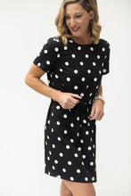 Load image into Gallery viewer, Classic Cutie Black & White Polka Dot Dress