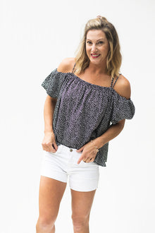 Endless Love Black Dotted Top (5392619274400)