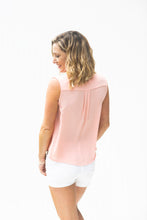 Load image into Gallery viewer, Peachy Keen Faux Wrap Sleeveless Top (5392619307168)