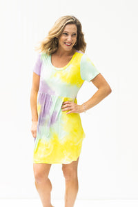 Sweet Cravings Mint Mix Tie Dye Dress