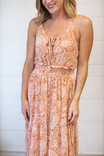 Load image into Gallery viewer, Speak with Kindness Orange Maxi Dress (5240628084896)