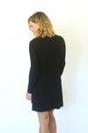 Take Me to the Top Black Long Sleeve Dress (5501395468448)