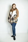 Cheery & Bright Plaid Faux Fur Vest (5806507950240)