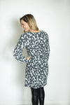 Say It Over Grey Animal Print Dress (5790080073888)