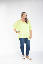 Load image into Gallery viewer, Look On The Bright Side Neon Lime Sweater